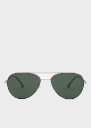 Paul Smith Matte Silver And Black Ink 'Angus' Sunglasses