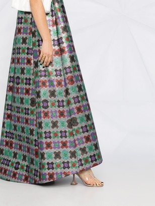 La DoubleJ Juno geometric-print dress