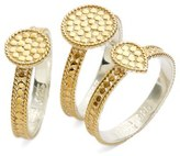 Anna Beck Women's Metal Stacking Rings (Set Of 3)