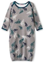 Baby Nay Bay Nay Green & Navy Camy Elephants Nightgowns - Gray