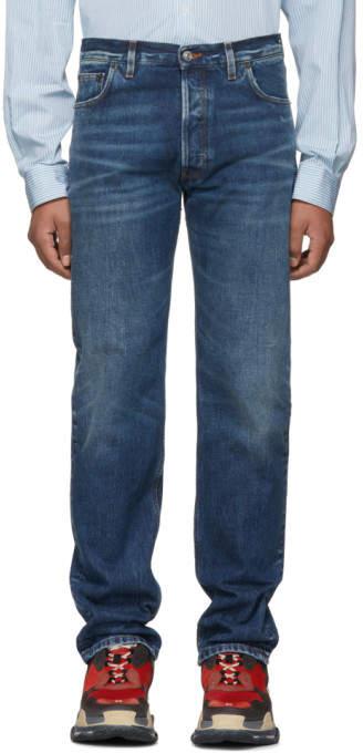 Balenciaga Blue Original Five-Pocket Jeans