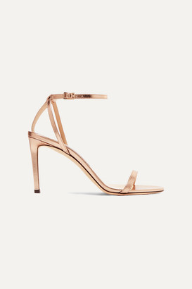 Jimmy Choo Minny 85 Metallic Leather Sandals - Gold