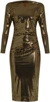 Vivienne Westwood Thigh draped laminated-print jersey dress