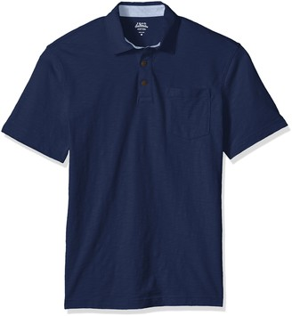 Izod Men's Wellfleet Short Sleeve Solid Slub Polo
