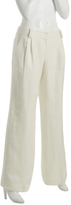 Sine by Parameter ivory linen double pleated pants