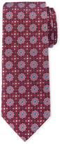 Neiman Marcus Medallion Pattern Silk Tie, Red