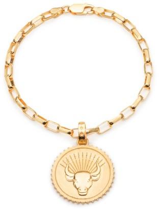 Rachel Jackson London Statement Zodiac Art Coin Taurus Bracelet Gold