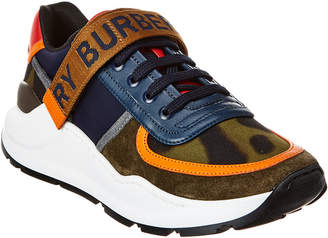 Burberry Logo Detail Leather Sneaker
