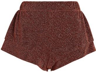 Oseree Lumiere High-Rise Lurex Shorts