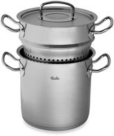 Fissler Original Pro Collection Multi-Star 6.3-Quart Covered Stock Pot with Steamer Insert