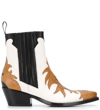 Sartore Low Heel Western-Style Boots