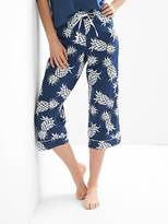 Gap Poplin print crop sleep pants