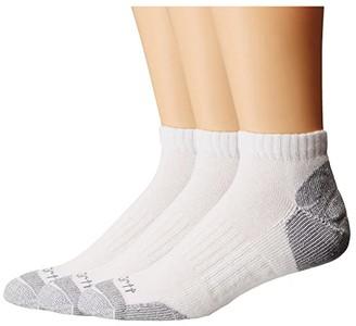 Carhartt Cotton Low Cut Work Socks 3-Pack (White) Men's Low Cut Socks Shoes