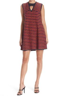 M Missoni Cutout Cap Sleeve Patterned Dress