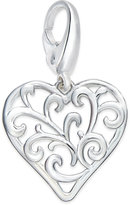 Giani Bernini Filigree Heart Charm in Sterling Silver