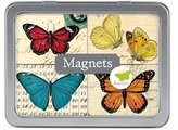 Cavallini & Co. Magnet Set Butterflies, 24-Assorted Magnets Packaged in A Tin