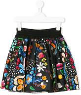 Simonetta floral pleated skirt
