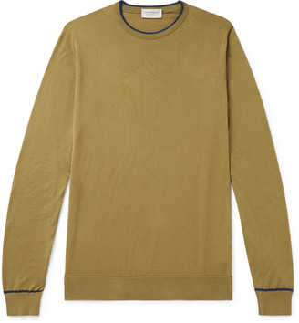 John Smedley Astin Slim-Fit Contrast-Tipped Sea Island Cotton Sweater