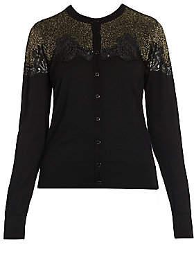 Dolce & Gabbana Women's Lace Inset Cardigan