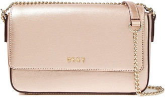 DKNY Bryant Metallic Textured-leather Shoulder Bag