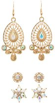Charlotte Russe Embellished Chandelier & Stud Earrings - 3 Pack