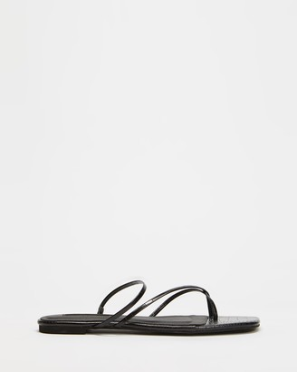 Billini - Women's Black Strappy sandals - Andre Sandals - Size 6 at The Iconic