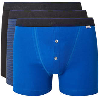 Schiesser Ludwig Three-Pack Stretch-Cotton Jersey Boxer Shorts