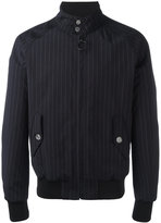 Off-White pinstriped bomber jacket - men - Cotton/Viscose/Wool - S