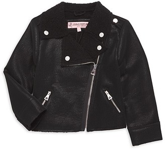 Urban Republic Little Girl's Faux Fur Faux Leather Moto Jacket