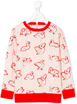 Stella McCartney swan print blouse - kids - Cotton/Acrylic/Polyester/Viscose - 2 yrs