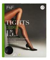 F&F 2 Pack of Gloss 15 Denier Tights, Women's