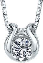 Sirena 1/12 CT. T.W. Diamond Solitaire 14K White Gold Pendant Necklace