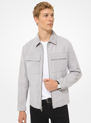 Michael Kors Suede Utility Jacket