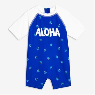 Joe Fresh Baby Boys' Swim Romper, Blue (Size 12-18)