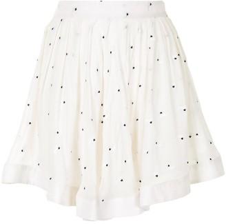 Fleur Du Mal Pleated Sheer Mini Skirt