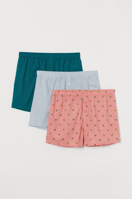 H&M 3-Pack Woven Boxer Shorts