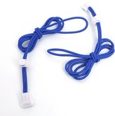 Sonline Locking Shoe Laces Elastic Shoelace Running Sports 110cm 1 pair Deep Blue