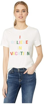 ban.do I Believe in Vacation Classic Tee (Ivory) Women's T Shirt