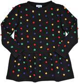 Au Jour Le Jour Cotton Sweatshirt Dress W/ Pompoms