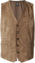 Eleventy welt pockets waistcoat - men - Suede/Cupro/Virgin Wool/rubber - 48