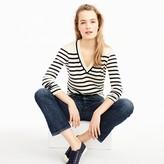 J.Crew Striped V-neck sweater in summerweight cotton