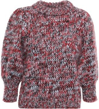 Ganni Marled Mohair And Wool-blend Sweater