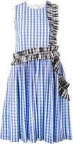 MSGM gingham ruffle detail dress - women - Cotton - 40