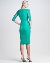 Jean Paul Gaultier Lace-Mesh Knee-Length Dress