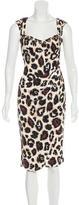 Blumarine Embellished Leopard Print Dress
