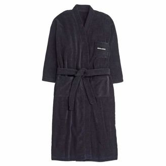 Sea Doo Sea-Doo Mens Terry Cloth Bathrobe (X-Large) Black