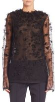 Jason Wu Embroidered Houndstooth Lace Top