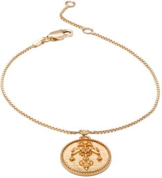 Rachel Jackson London Zodiac Art Coin Libra Bracelet Gold