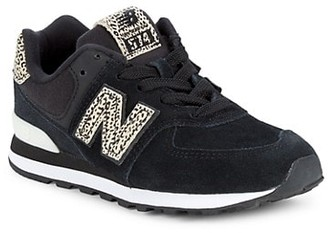 New Balance Kid's 574 Suede & Canvas Sneakers
