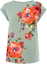 Oasis Rose Placement Lace Trim Tee